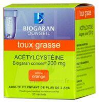 Acetylcysteine Biogaran Conseil 200 Mg Pdr Sol Buv En Sachet B/20 à Saverne