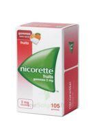 Nicorette 2 Mg Gomme à Mâcher Médicamenteuse Sans Sucre Fruits Plq/105 à Saverne