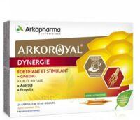 Arkoroyal Dynergie Ginseng Gelée Royale Propolis Solution Buvable 20 Ampoules/10ml à Saverne