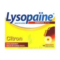 LysopaÏne Ambroxol 20 Mg Pastilles Maux De Gorge Sans Sucre Citron Plq/18 à Saverne