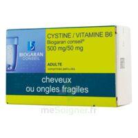 Cystine/vitamine B6 Biogaran Conseil 500 Mg/50 Mg Cpr Pell Plq/120 à Saverne