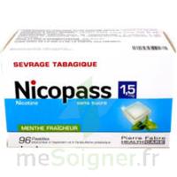 Nicopass 1,5 Mg Pastille Sans Sucre Menthe Fraîcheur Plq/96 à Saverne