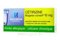Cetirizine Biogaran Conseil 10 Mg, Comprimé Pelliculé Sécable à Saverne