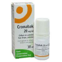Cromabak 20 Mg/ml, Collyre En Solution à Saverne