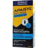 Apaisyl Anti-poux Xpress 15' Lotion Antipoux Et Lente 200ml+peigne à Saverne
