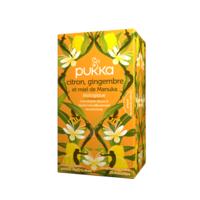 Pukka Bio Citron, Gingembre Et Miel De Manuka Tisane Immunité Citron Gingembre Miel De Manuka 20 Sachets à Saverne
